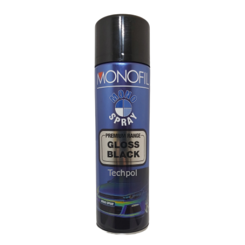 MonoFill Gloss Black Aerosol Spray Paint 500ml