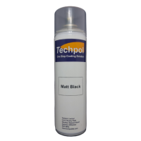 Techpol Matt Black Aerosol Spray Paint 500ml