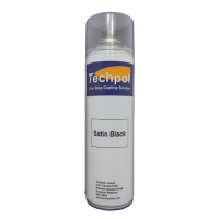 Techpol Satin Black Aerosol Spray Paint 500ml