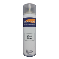 Techpol Wheel Silver Aerosol Spray Paint 500ml