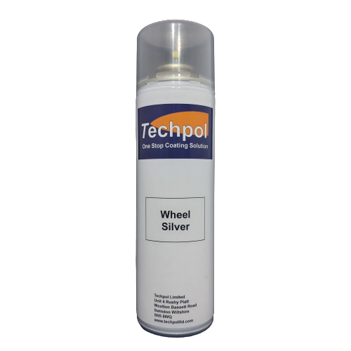 Techpol Wheel Silver Aerosol Spray Paint 500ml