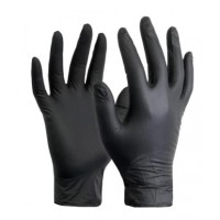 Black Nitrile Gloves Box Of 100 Large