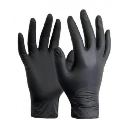 Black Nitrile Gloves Box Of 100 Large